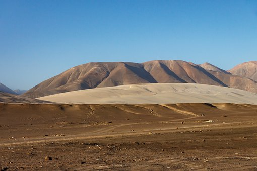 Desert, Multi Coloured, Peru, Sand, Mountains, Dry