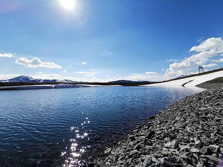 Water, Lake, Memory, Snow, Landscape, Nature, Blue