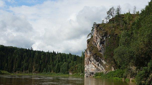 River, Open Space, Horizon, Nature, Landscape, Forest