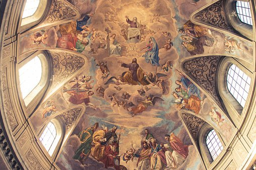 Fresco, Church, Religion, Painting, Christianity