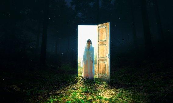 Photoshop, Girl, Woman, Fairy, Fantasy, Forest, Dark