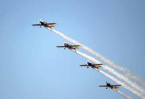 Aircraft, Plane, Speed, Airshow, Flight, Blue, Sky