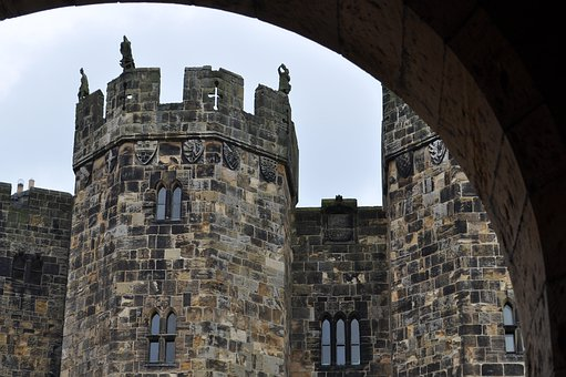 Castle, Fortress, Britain, Rocks, Medieval, History