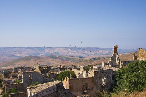 Ruins, Abandoned, Destruction, Earthquake, Landscape