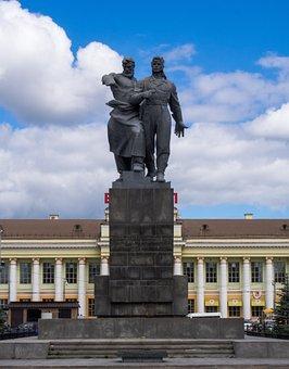 Russia, Railway Station, Monument, Train, Creativity