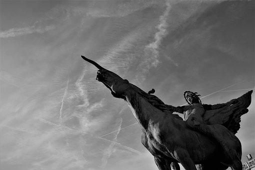 Jumper, Conqueror, Avenger, Fiery, Horse, Sculpture