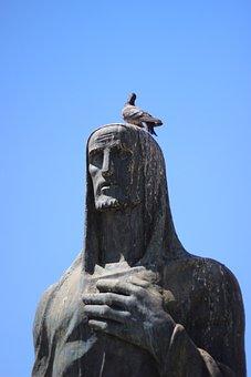 Statue, Pigeon, Dove, Pigeons, Sculpture, Bird, Symbol