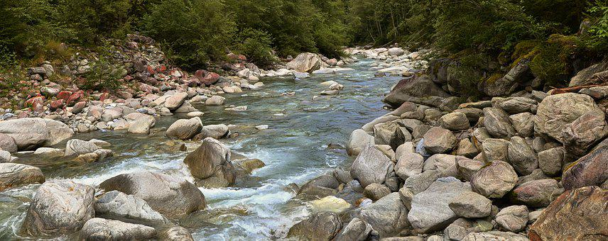 Stream, Water, Torrent, Mountains, River, Landscape