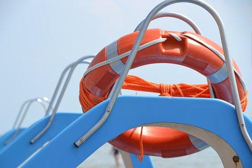 Lifebelt, Pedal Boat, Sea, Summer, Vacations, Water