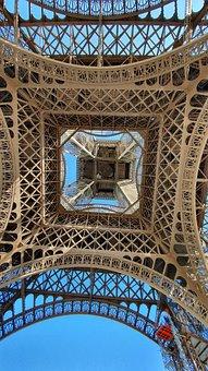 Paris, Eiffel Tower, View Details, Construction, France