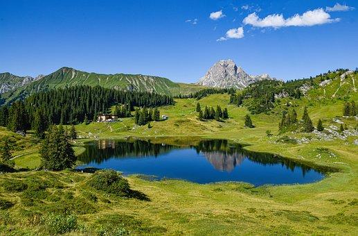 Lake, Mountain Lake, Körbersee, Schröcken, Vorarlberg