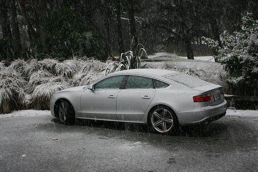 Snow, New Zealand, Percy Reserve, Audi, Winter, Cold