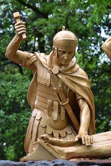 Statue, Centurion, Roman, Hammer, Nails, Feet, Jesus