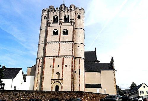 Münstermaifeld, Travel, Dom, Double Tower, Church