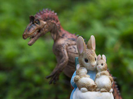 Rabbit, Dinosaur, Threat, Family, Prey, Bunny, Bunnies