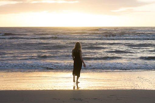 Beach, Happy, Sea, Summer, Joy, Happiness, Woman, Girl
