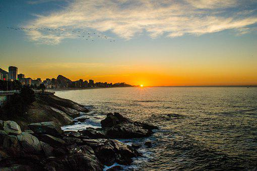 Sunrise, Mirante Do Leblon, Landscape, Beach, Leblon