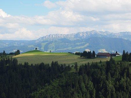 View, Hill Land, Napf Region, Nature, Switzerland