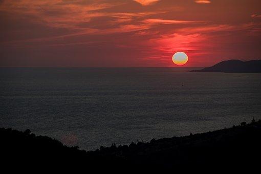 Sunset, Sea, Summer, Sky, Water, Ocean, Twilight