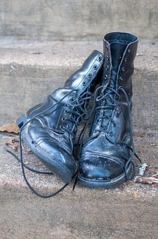 Combat Boots, Shoes, Military, Fashion, Old, Clothing