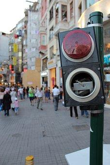 A Traffic Light, Traffic Lights, Pedestrian Lights