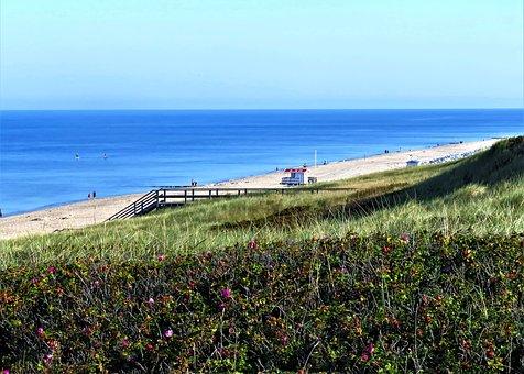 Sea, Sand Beach, Dunes, North Sea, Island, Sylt