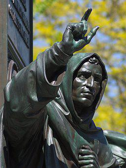 Savonarola, Monk, Monument, Luther, Worms, Statue