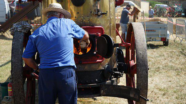Steam, Agricultural, Threshing, Agriculture, Tractor