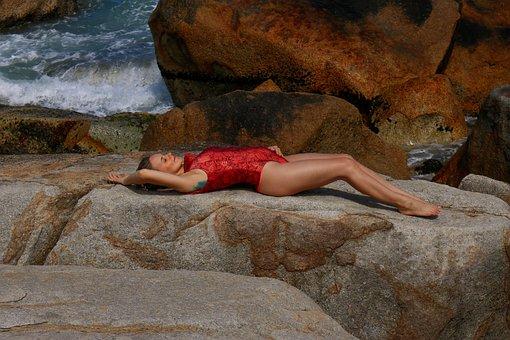Baby, Summertime, Rocks, Stone, Pregnant, Woman Power