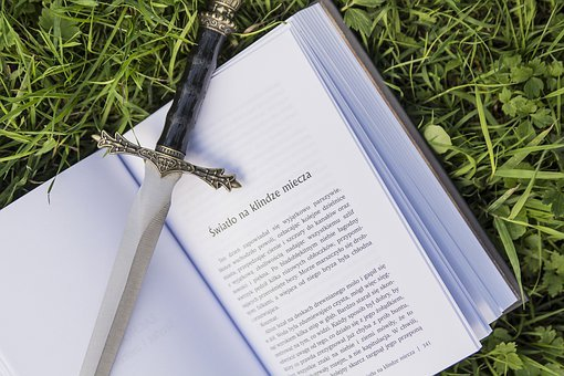 Book, Sword, Dagger, Library, Reading, Nature, Green