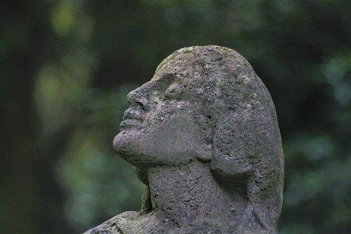Sculpture, Angel, Tomb, Ohlsdorfer Cemetery