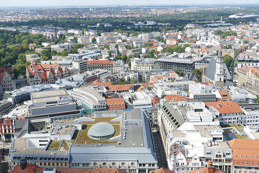 Leipzig, Saxony, City, Augustus Square, Downtown, View