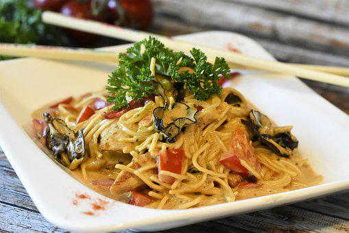 Noodles, Asia, Thai Noodles, Coconut Milk, Chicken