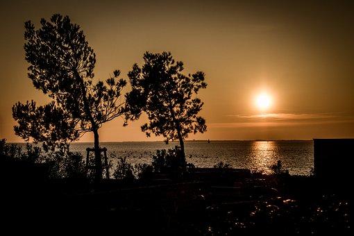 Sea, Sun, Sky, Landscape, Quiet, Backlight, Nature