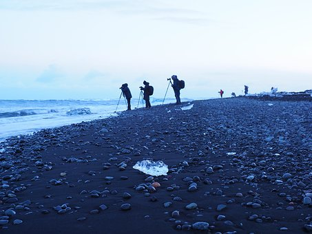 Diamond Beach, Black Volcanic Sand Beach
