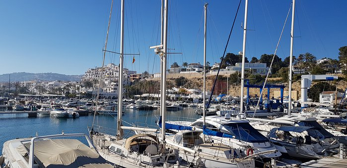 City, Summer, Holiday, Blue, Sky, Leisure, Boats, Port