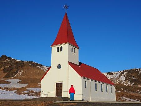 Church, Church Of Vik, Iceland, Vik, Vík í Mýrdal