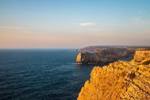 Costa, Litoral, Cable, Rock, Ocean, Landscape, Rocks