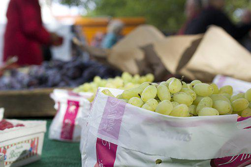 Grapes, Market, Nutrition, Ripe, Grapevine, Fruit