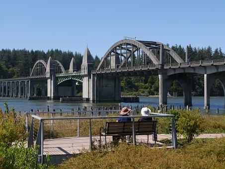 Bridge, Ladies, Hats, Woman, Lady, People, Outdoors