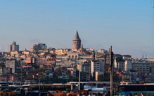 Galata Tower, Istanbul, Galata, Turkey, City