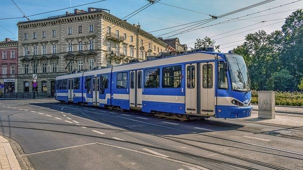 Tram, City, Urban, Transportation, Road, Street, Krakow