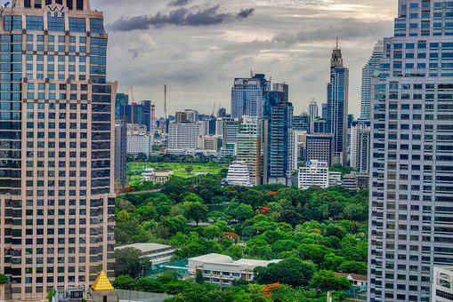 Asia, Metropolis, Clouded Sky, Sunset, Landmark