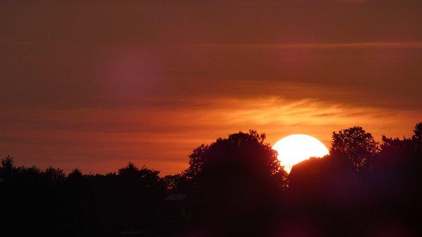 Sunset, Sun, Sky, Landscape, Mood, Nature, Dusk