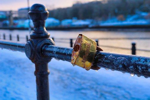 Lock, Snow, Winter, Locked, Padlock, Nature, Landscape