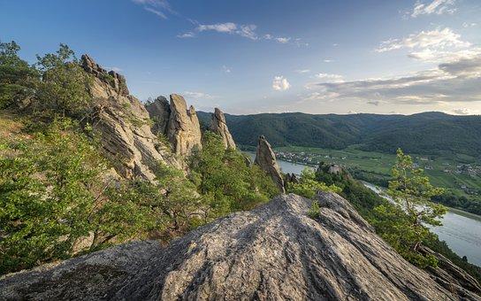 Rocks, Castle, Rock, Fantasy, Landscape, Magic, Water