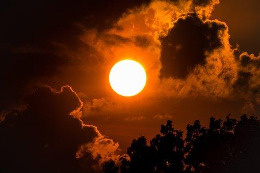Sunset, Clouds, Sun, Sky, Evening, Dusk, Abendstimmung