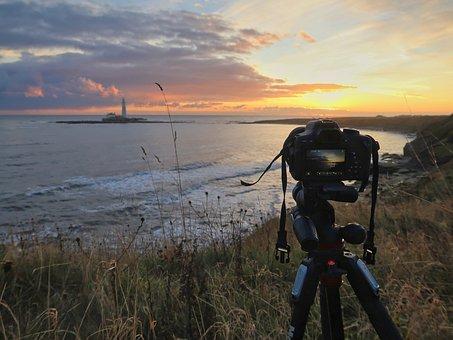 Camera, Sunrise, Photographer, Sky, Photography, Nature