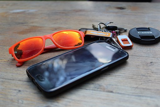 Mobile Phone, Key, Sunglasses, Smartphone, Technology
