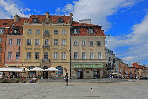 Warsaw, Center, Poland, Architecture, Building, View